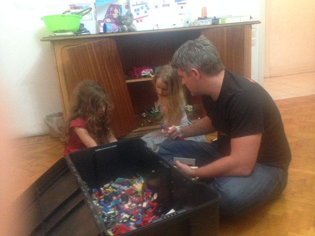 12.27-Building legos with Daddy