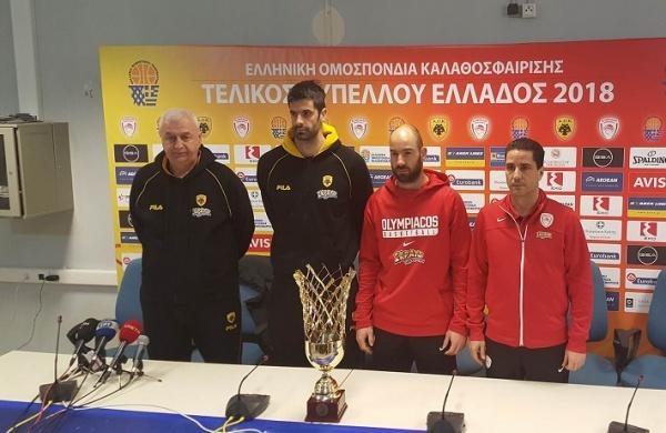 Τελικός Κυπέλλου Ανδρών: Η συνέντευξη Τύπου