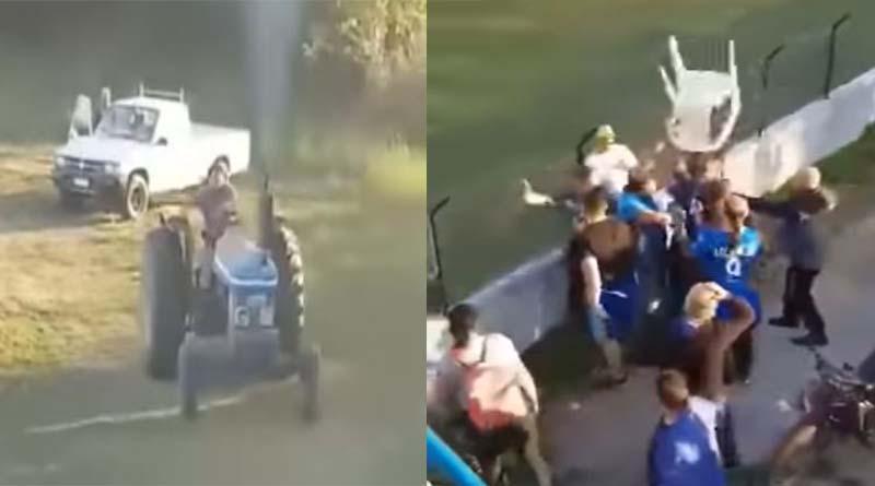 """Επίθεση μέσω… τρακτέρ και """"πέσιμο"""" με καρέκλα σε αγώνα τοπικού πρωταθλήματος"""