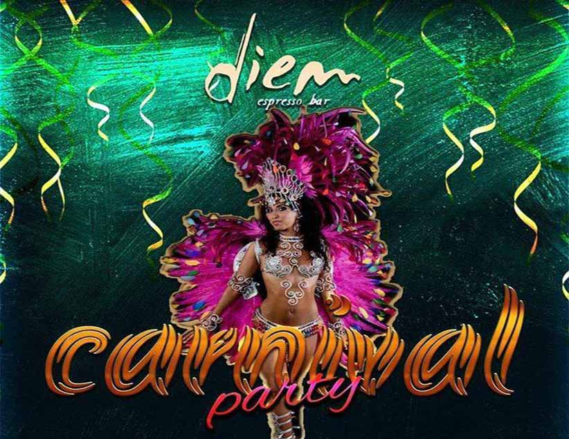 Carnaval Party το Σάββατο 9/3 στο Diem Espresso Bar!