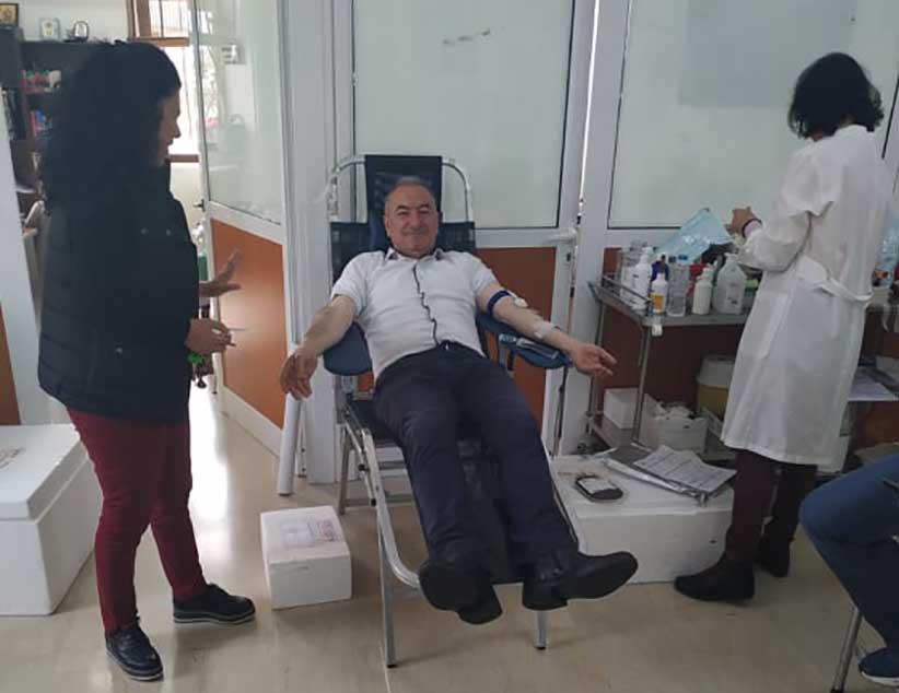 Το παρών έδωσε στη σημερινή αιμοδοσία στον Λούρο ο υποψήφιος Δήμαρχος Πρέβεζας Βαγγέλης Ροπόκης