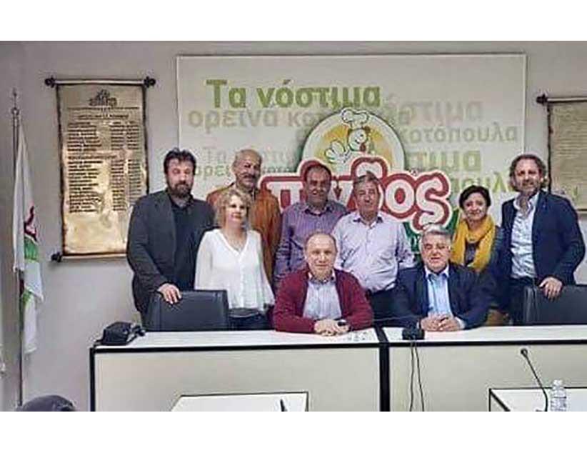 Επίσκεψη της παράταξης «ΗΠΕΙΡΟΣ ΟΛΟΝ» στην εταιρεία «Πίνδος» με τον επικεφαλής κ. Δημήτρη Δημητρίου