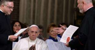 Pope Francis Visits Rome Anglican Curch