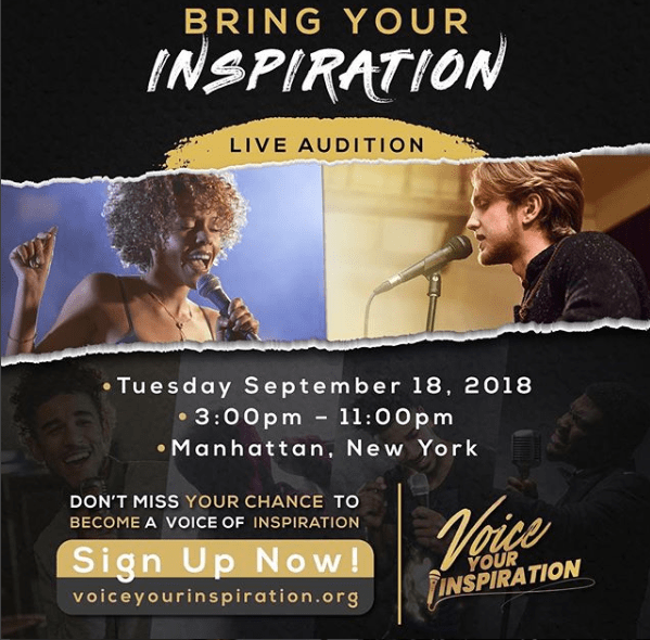 Bring Your Inspiration - Voice Your Inspiration - Live Auditions