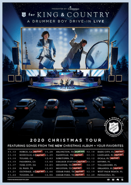 FOR KING & COUNTRY- A DRUMMER BOY DRIVE-IN