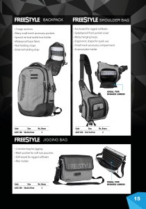 The Freestyle Backpack, Shoulder Bag and Jigging Bag - Out now