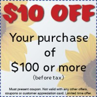 Cost cutting coupons, Gossett Brothers Nursery