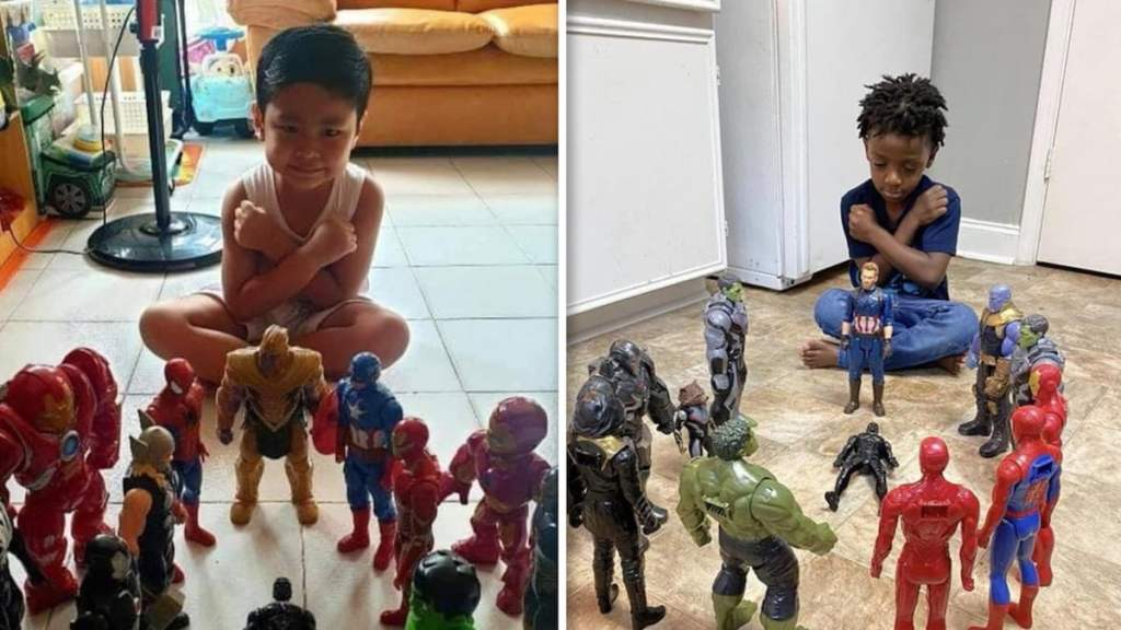 Kids Honor Chadwick Boseman with 'Avengers' Action Figure Memorials