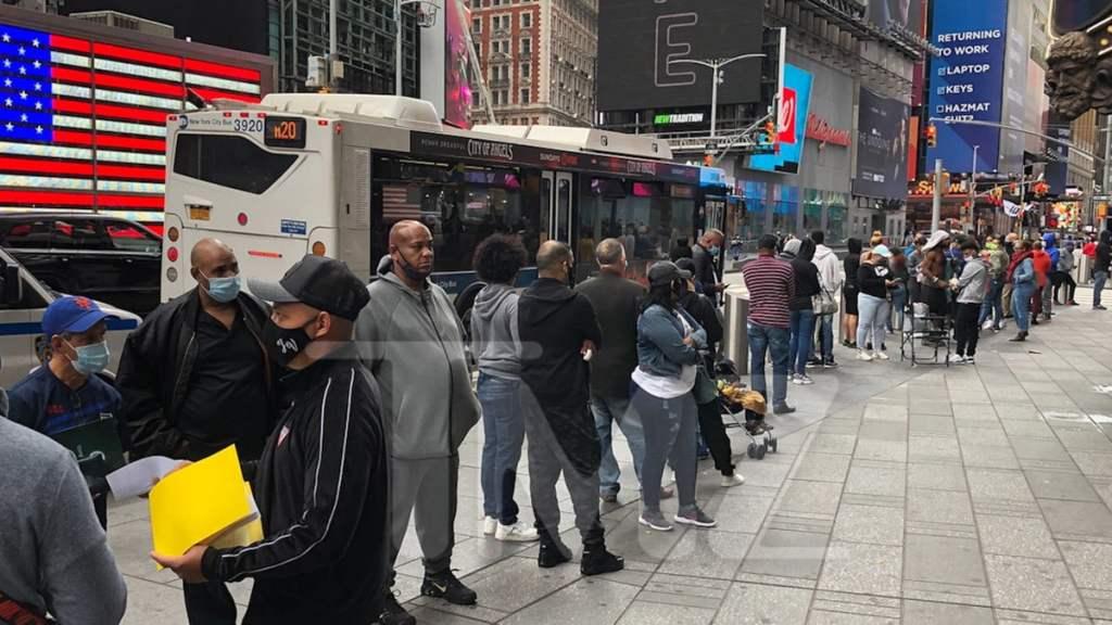 Long Passport Line in NYC Following 'S**tshow' Debate