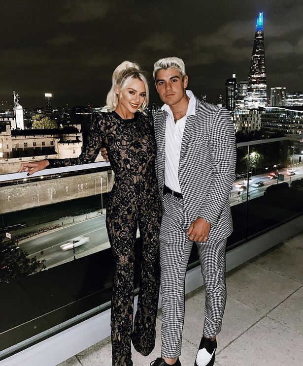 Lucie Donlan and former Love Island star Luke Mabbott