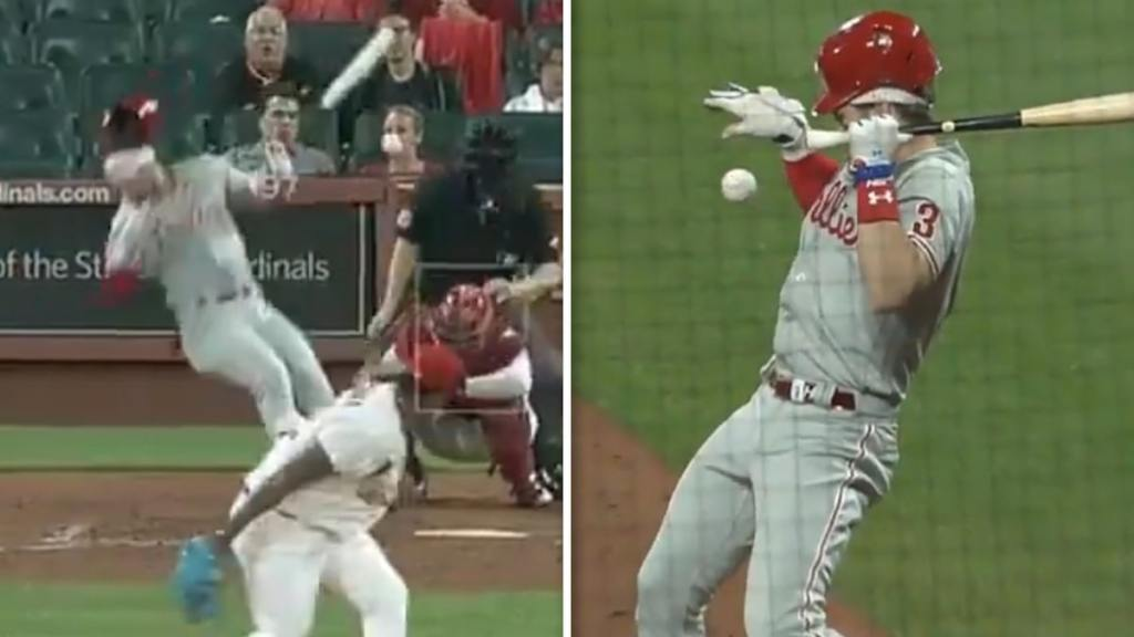 Bryce Harper Drilled In Face By 97 MPH Fastball, But MLB Star Somehow 'All Good'