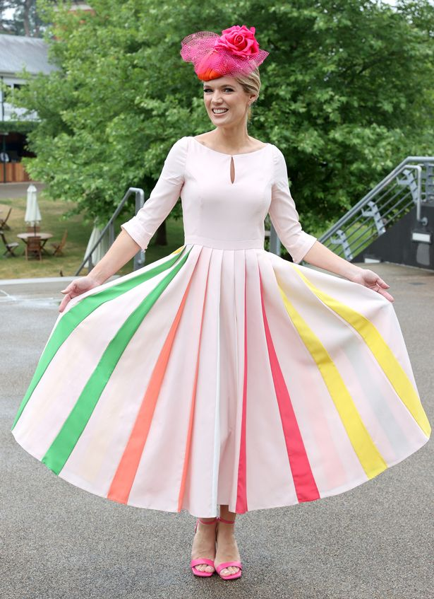 Charlotte Hawkins looked incredible in her rainbow-inspired frock