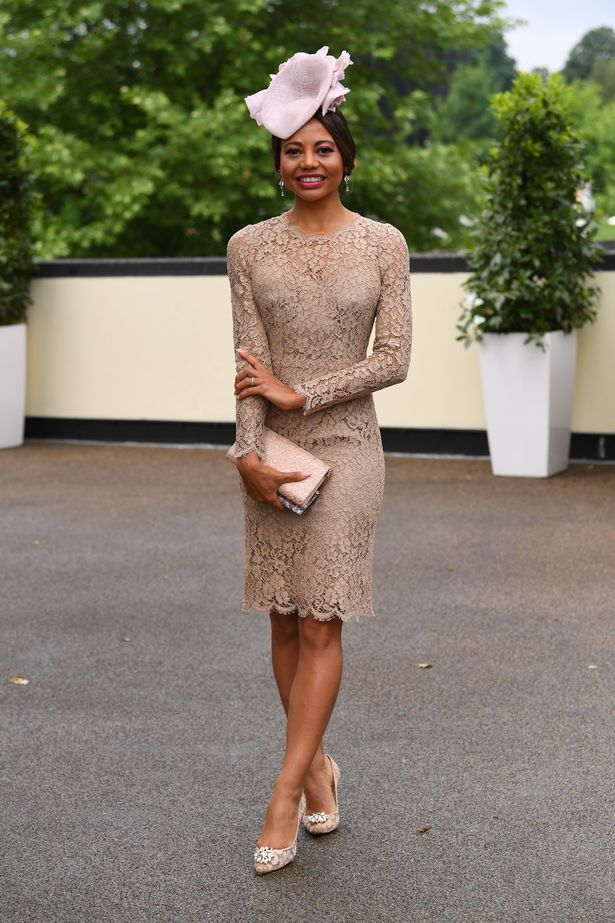 Emma Weymouth put on a glam display as she headed to Ladies Day