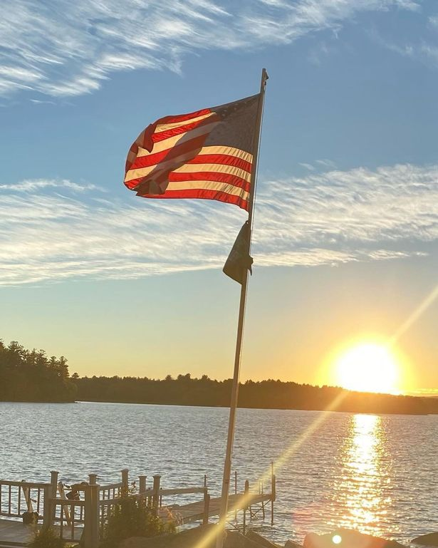 Michelle Pfeiffer shared a shot of the US flag in the sunshine