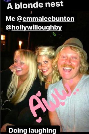 Emma Bunton, Holly Willoughby and Keith Lemon