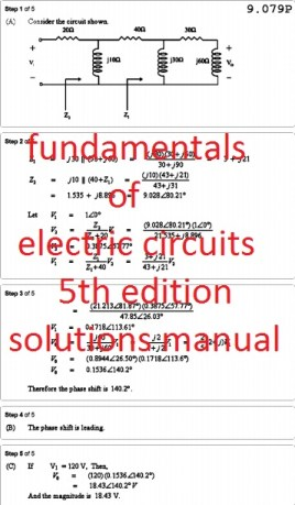fundamentals of electric circuits 4th edition solutions manual pdf