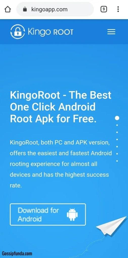 KingoRoot on phone