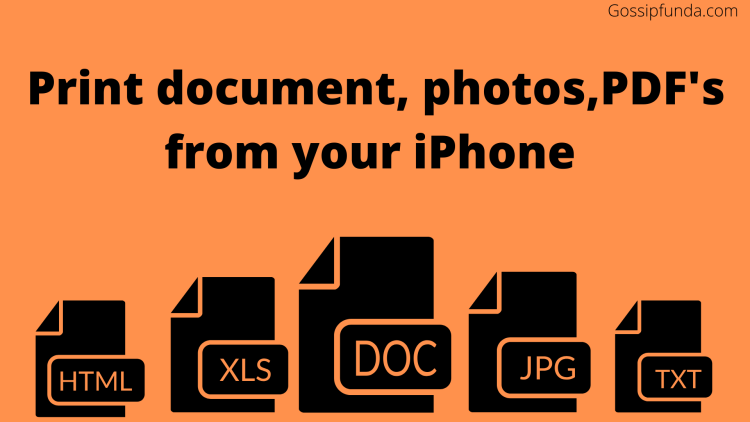 Print documents or photos from iPhone