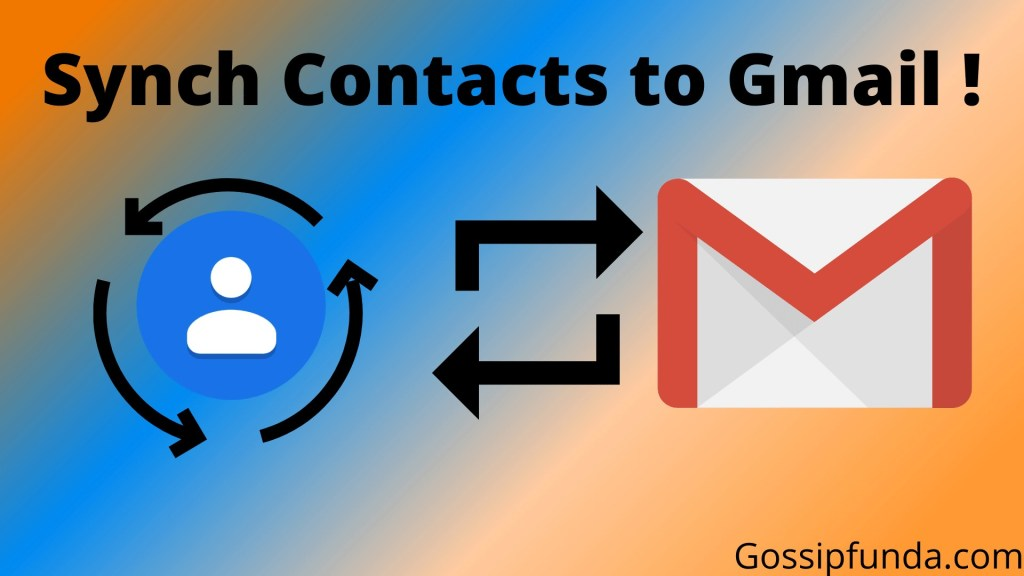 How to sync contacts to Gmail
