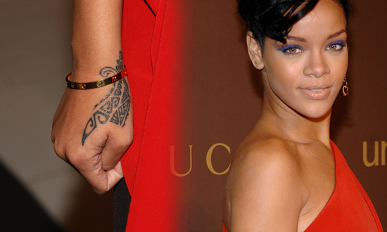 "wrist tattoo. ""It's tribal,"" she said at the charity's annual Snowflake"