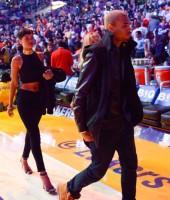 Chris Brown & Rihanna at Knicks/Lakers basketball game in Los Angeles - Christmas 2012