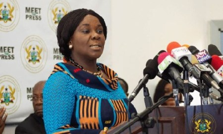 Minister of Sanitation and Water Resources Cecilia Dapaah