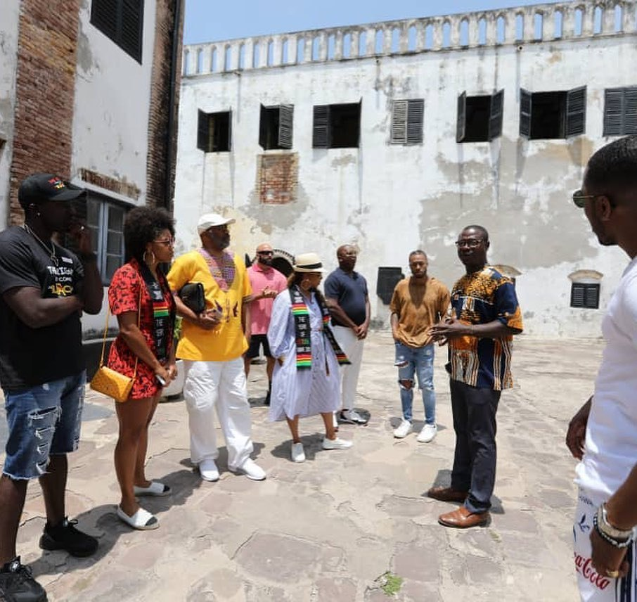 Image result for Steve Harvey visits Cape Coast Castle, Gets emotional (VIDEO)
