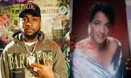 Davido and Late Mum