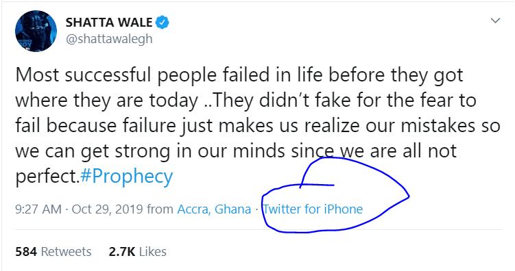 Shatta Wale dumps Infinix for iPhone despite being an infinix ambassador