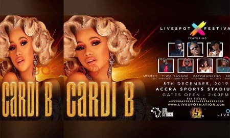 Watch Cardi B in Ghana Concert Live