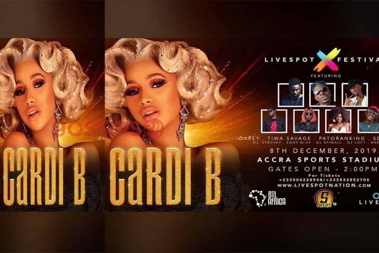 Watch Cardi B in Ghana Concert Live