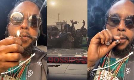 Popcaan smokes weed, Popcaan and Kwaw Kese