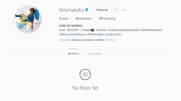 Fella Makafui instagram