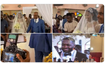 Drone Delivers Wedding Ring at Kennedy Osei and Tracy's Expensive Wedding (VIDEO) 6