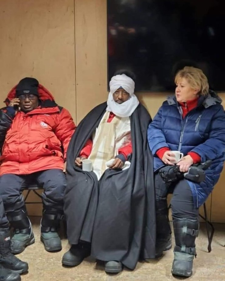 Nana Akufo-Addo dresses like an Eskimo as he chills in Norway