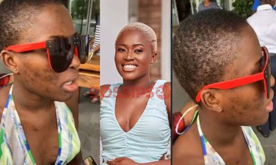 Fella Makafui's face without makeup