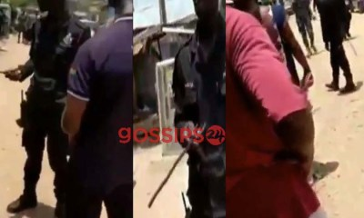 Policemen clash with civilians who were seen buying prepaid amid lockdown