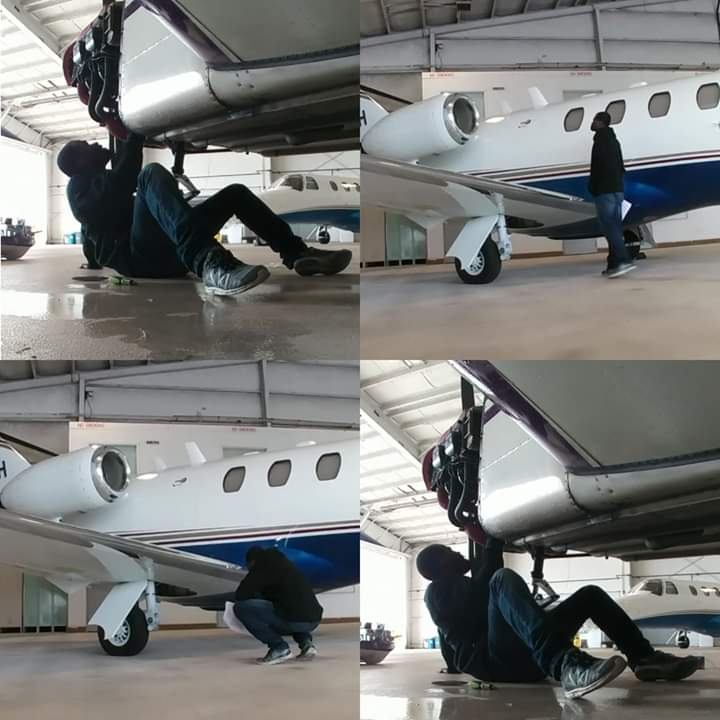 Evangelist Addai Shares Photos Of An Aeroplane He's Building. 2