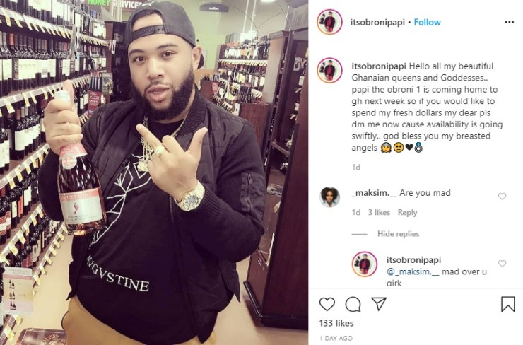 Hit me up for hookups - Archbishop Duncan Williams' Gangster Son tells Ghanaian slay queens