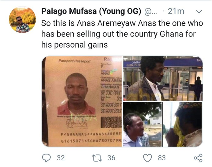 Archipalago reveals the face of Anas Aremeyaw Anas on social media
