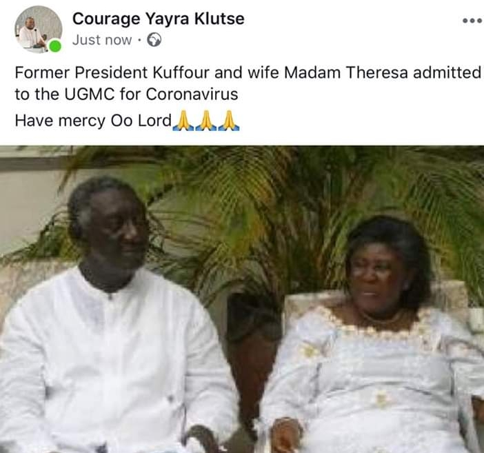 Breaking News: Kuffour And Wife Tests Positive For Coronavirus (Details) 2