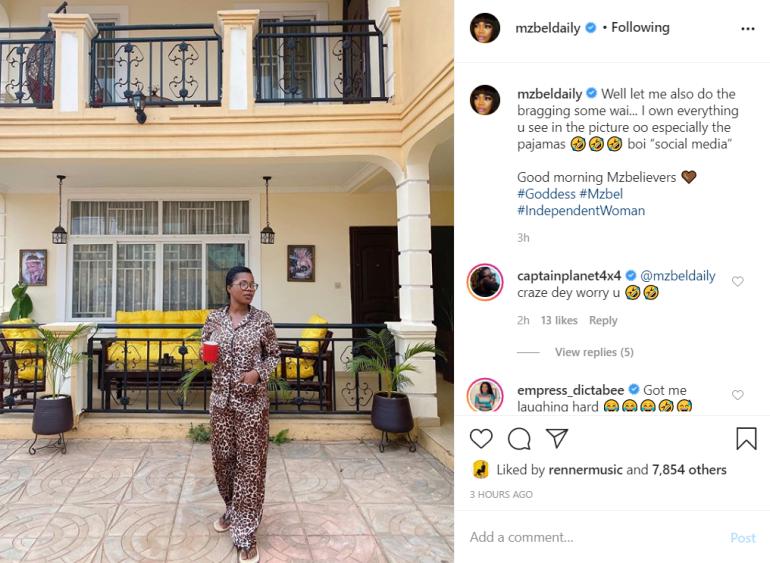 MzBel shows off her multi-million mansion 1