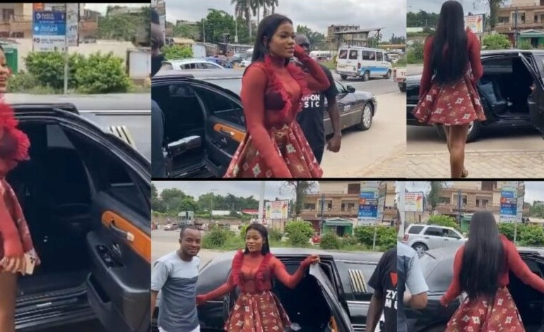 NAM 1 Ignores Menzgold Customers, Buys A Brand New  Limousine For His Newly Signed Act, Tisha (video) 1