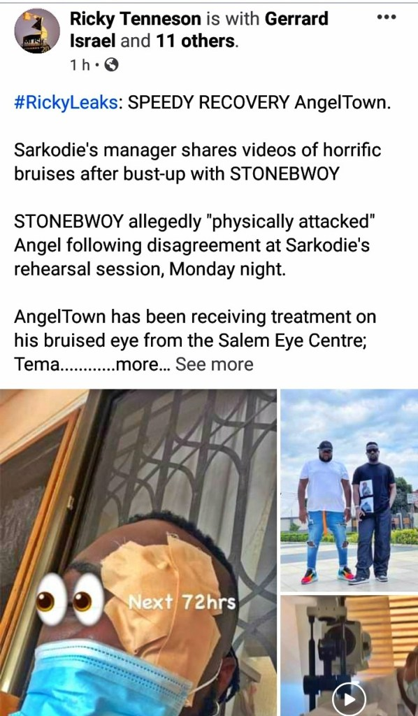 Stonebwoy allegedly beats up Sarkodie's manager- (Photos) 1