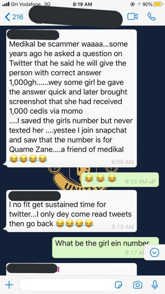Medikal scams his own fans