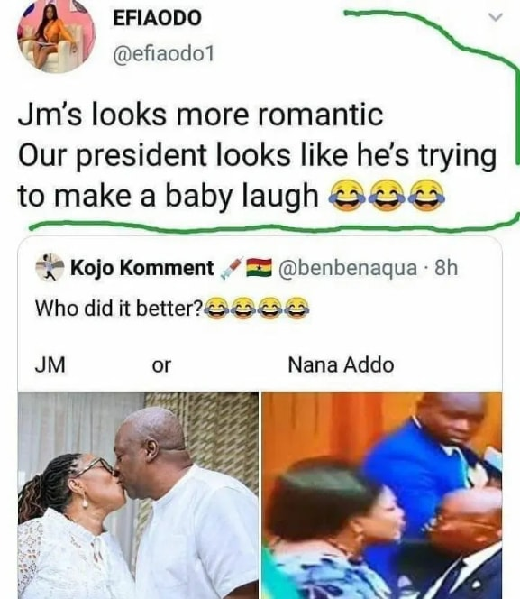 Mahama looks more romantic than Akufo-Addo - Efia Odo