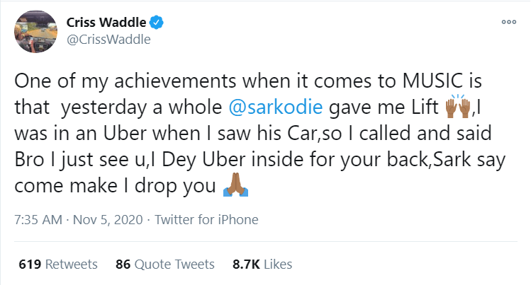 image 8 - AMG Boss Criss Waddle Reveals His Greatest Achievement As A Musician