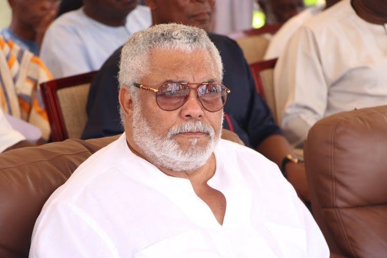 Former Ghanaian President, Jerry Rawlings