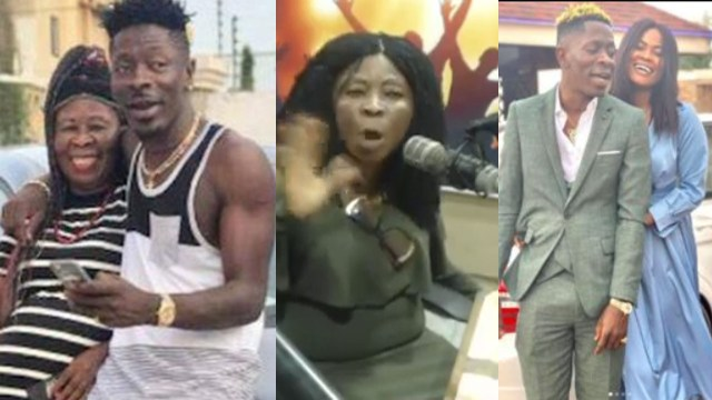 Shatta Wale and his mother, Elsie
