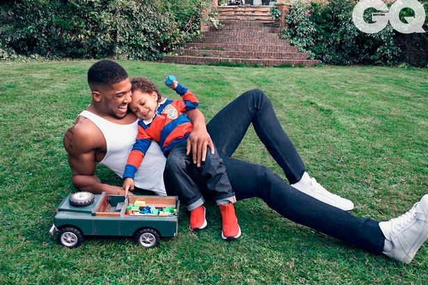 anthony joshua with son